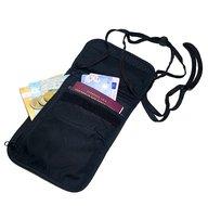 Reisportemonnee nektasje met 5 vakjes pasjes telefoon kleingeld briefgeld 17.5 x 14 cm nekkoord