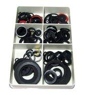 Dichtingsringen sanitair dichtings ringen set assortiment O ringen kraanrubbertjes fiberringen 125 delig