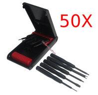 50x 5 Delige toolset voor mobiele telefoons en accessoires.