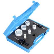 HSS 9 delige Gatenzaag Hole Saw set gereedschap box 18, 20, 25, 32, 40, en 51mm Bimetalen carbon steel