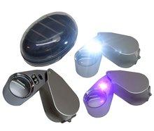Loupe 40X Vergrootglas Vergrootglas Sieraden Juweliers Loep met wit en blauwe led verlichting