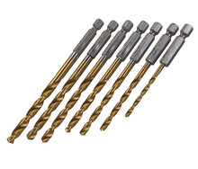 7 delige boor titanium coating boren bit set 3 tot 6,5mm