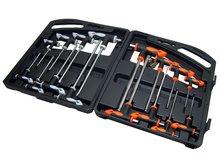Sleutel torx en inbus set lang sleutelset in stevige doos 16 delig Tools met T greep handvat