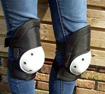 Kniebeschermers met harde pads 2 delig  beschermers met klittenband sluiting