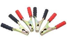 4X Accuklem set 15cm acculaadklem accu knijpklem zwart & rood 120AMP 4 Stuks