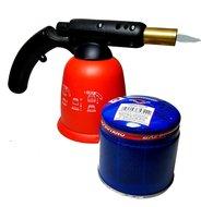 Soldeer Brander soldeerbrander soldeerpistool gasbrander met regelbare vlam incl. 1 190 gr gasfles