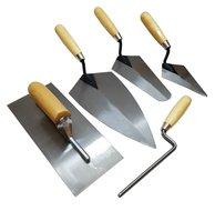Pleistertroffel, plakspaan, voegspijker troffel 5 delige set