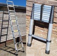 Ladder uitschuifbaar Telescopische Aluminium lichtgewicht 290cm 2,9m telescoopladder EN 131