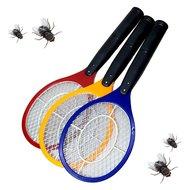 Elektrische vliegenmepper set van 3 stuks geel rood en blauwe muggen wespen vliegen