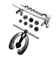 Flare set 9 delig voor koper en aluminium buis o.a remleiding en gasleiding