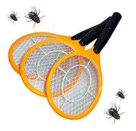 Elektrische vliegenmepper set van 3 stuks geel muggen wespen vliegen