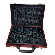170 delige HSS4241 DIN338 spiraal boren set 1mm tot 10mm rode koffer