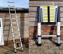 Ladder uitschuifbaar Telescopische Aluminium lichtgewicht 320cm 3,2m telescoopladder EN 131