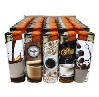 50 X Koffie Coffee print aansteker klik navulbaar afbeeldingen