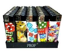 50 X Dobbelsteen dice games print aansteker klik navulbaar afbeeldingen