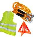Auto-Veiligheidset-verkeersvest-sleepkabel-gevarendriehoek-3-delig-set-Veiligheidsvest