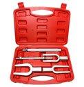 Fusee-kogel-Drijver-vork-set-zware-uitvoering-5-delige-set-in-koffer
