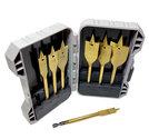 7X-Titanium-korte-Speedboor-houtboor-vlinderboor-125mm-set-10-t-m-32mm-boren-7-delig-in-koffertje
