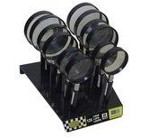 12x-Loupe-vergrootglas-glazen-lens-met-handvat-5x-vergroting-display